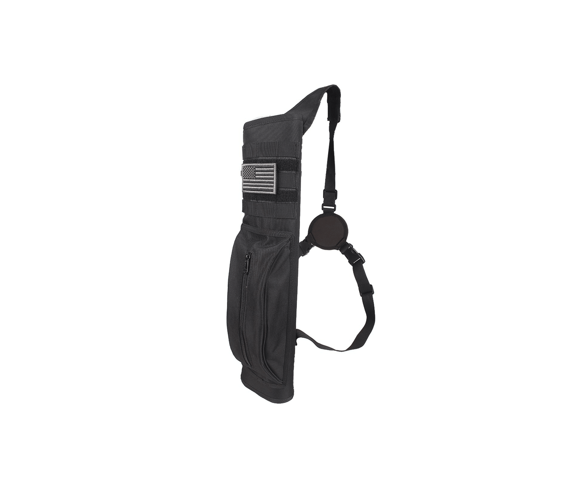 KRATARC Archery Multi Function Heavy Duty Back Arrow Quiver with Molle System Shoulder Hanged Target Shooting Quiver for Arrows Black for Right Handed 1