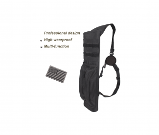 KRATARC Archery Multi Function Heavy Duty Back Arrow Quiver with Molle System Shoulder Hanged Target Shooting Quiver for Arrows Black for Right Handed 5