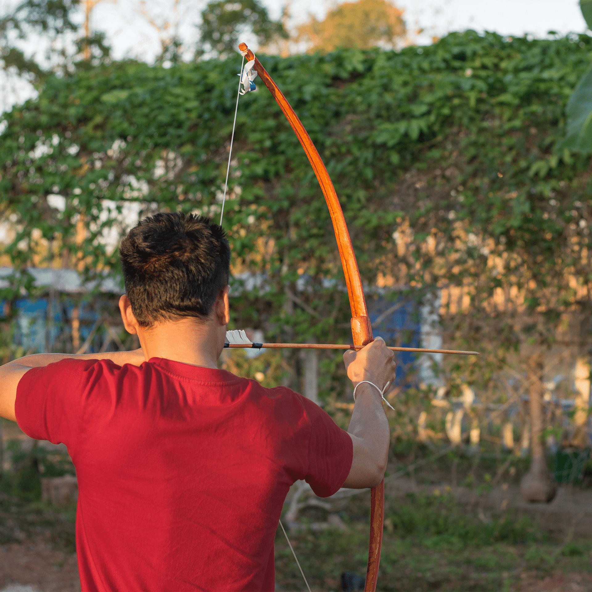 A traditional Archery Bow consists of bows and a bowstring with arrow