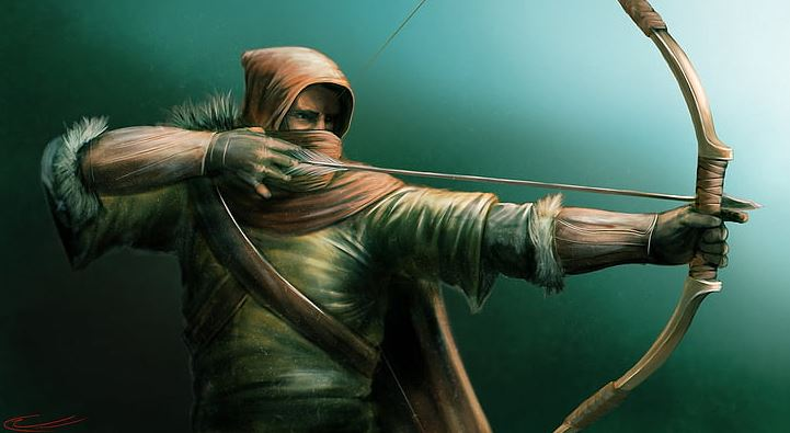 Why did archers wear hoods